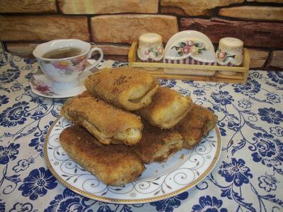 Блинные крокеты с картофельно-куриной начинкой - пошаговый рецепт приготовления с фото