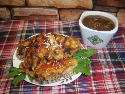Куриные крылышки в пиве с медово-горчичным соусом - пошаговый рецепт приготовления с фото