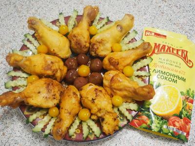 Куриные ножки в праздничной одёжке - пошаговый рецепт приготовления с фото