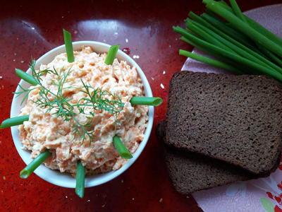 Паштет из сельди с морковью и плавленым сыром - пошаговый рецепт с фото