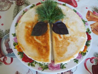 Пшеничные лепешки с сыром. Пошаговый рецепт с фото