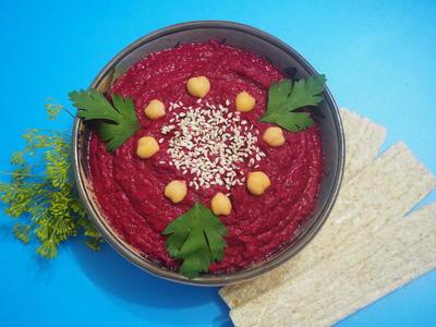 Хумус свекольный. Пошаговый рецепт приготовления с фото