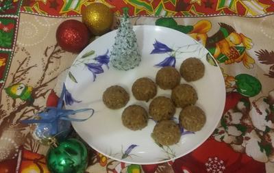 Конфетки из подсолнечных семечек на Рождество - пошаговый рецепт приготовления с фото
