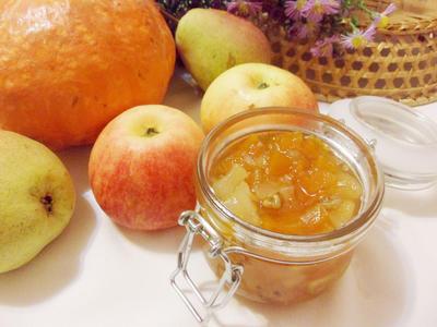 Варенье из тыквы, яблока, груши, орехов и лимона. Пошаговый рецепт с фото
