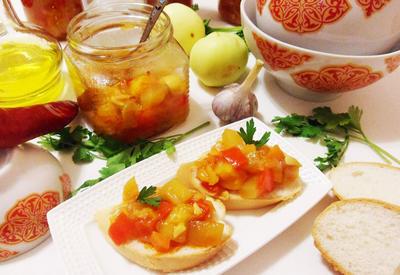 Татарская песня; закуска из кабачков на зиму. Пошаговый рецепт с фото