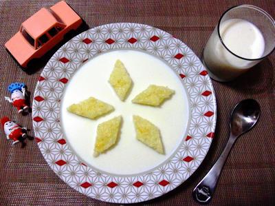 Молочный суп для внука; Кораблики; пошаговый рецепт приготовления с фото