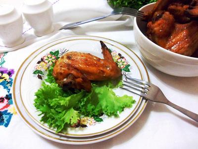 Запеченные куриные крылышки по-домашнему - пошаговый рецепт приготовления с фото