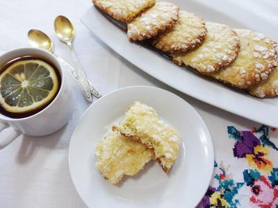 Лимонно-кокосовое печенье - пошаговый рецепт приготовления с фото