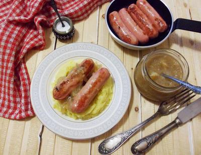 Луковый соус (подлива) к колбаскам. Пошаговый рецепт с фото