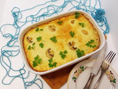 Картофель под жюльеном с курицей и грибами. Пошаговый рецепт приготовления с фото