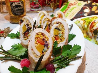 Пикантные рулетики из свиного карбонада - пошаговый рецепт приготовления с фото