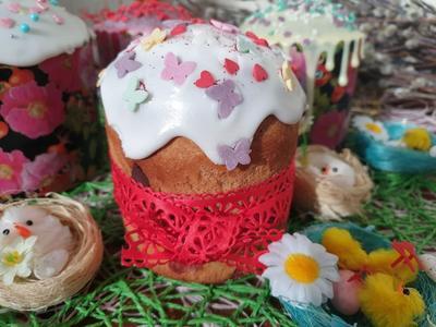 Кулич с вяленой клюквой и кусочками шоколада - пошаговый рецепт приготовления с фото