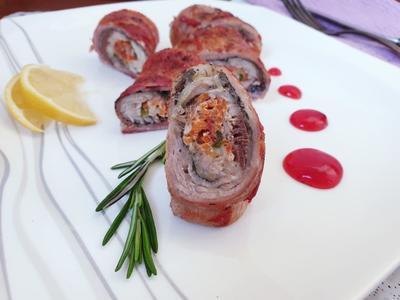 Рулетики из рыбы в беконе - пошаговый рецепт приготовления с фото