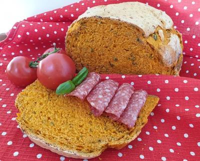 Томатный хлеб с базиликом - пошаговый рецепт приготовления с фото