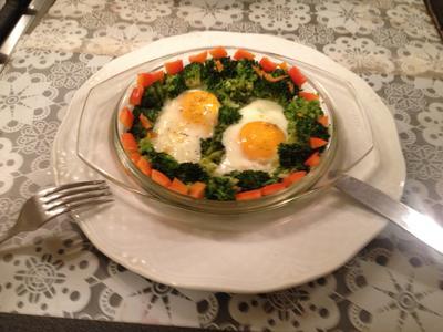Яичница с брокколи - быстро и вкусно - пошаговый рецепт приготовления с фото