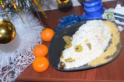 В Греческом зале, в Греческом зале; Салат; Мышь белая; пошаговый рецепт приготовления с фото