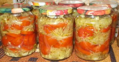 Томаты и кабачки - салат на зиму - пошаговый рецепт приготовления с фото