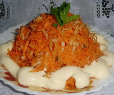 Салат с морковью и яблоком - пошаговый рецепт приготовления с фото