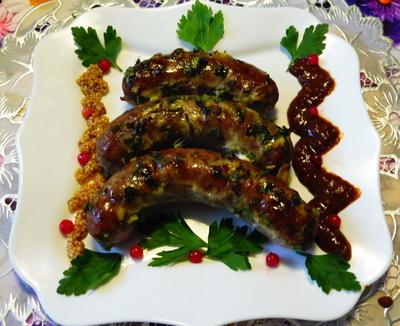 Запеченные домашние колбаски - пошаговый рецепт приготовления с фото