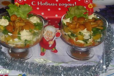Салат с маринованными опятами - пошаговый рецепт приготовления с фото