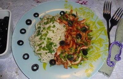 Спагетти с кальмарами по-итальянски - пошаговый рецепт приготовления с фото
