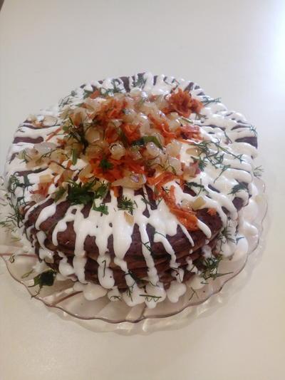 Печеночный торт - это очень вкусно - пошаговый рецепт приготовления с фото