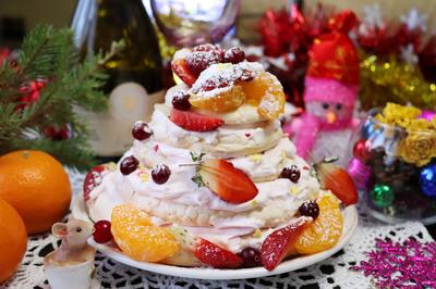Торт; Павлова; пошаговый рецепт приготовления с фото