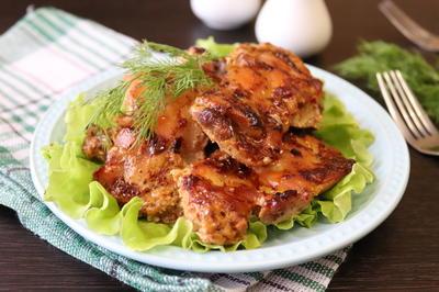 Куриные бёдра, запечённые в сметанном соусе - пошаговый рецепт приготовления с фото