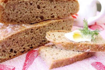 Серый хлеб ночного брожения - пошаговый рецепт приготовления с фото
