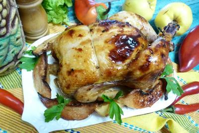 Запечённая курица с айвой - пошаговый рецепт приготовления с фото