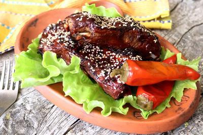Свиные рёбра барбекю - пошаговый рецепт приготовления с фото