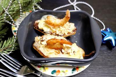 Груша с креветками и сыром. Рецепт приготовления с пошаговыми фотографиями