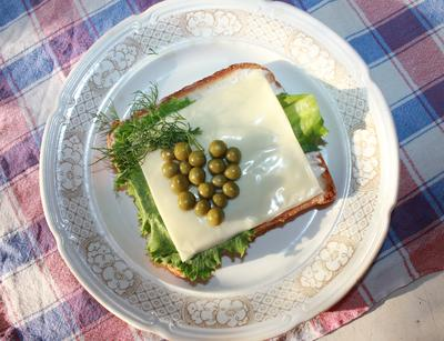 Бутерброд; Виноградная гроздь; пошаговый рецепт приготовления с фото