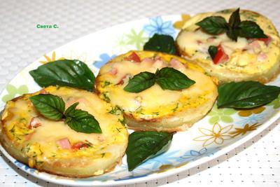 Кабачковые мини-пиццы - пошаговый рецепт приготовления с фото