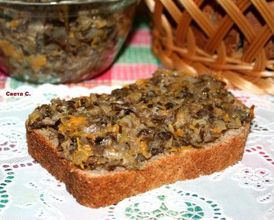 Грибная икра - пошаговый рецепт приготовления с фото