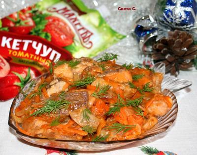 Лосось с овощами в томатном соусе - пошаговый рецепт приготовления с фото