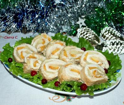 Куриный рулет с фруктами - пошаговый рецепт приготовления с фото
