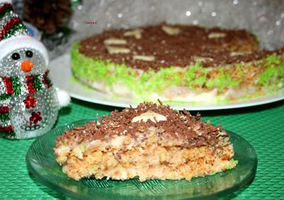 Торт без выпечки с жареной крошкой. Пошаговый рецепт с фото