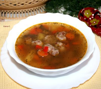 Постный овощной суп с грибами и фасолевыми клёцками - пошаговый рецепт приготовления с фото