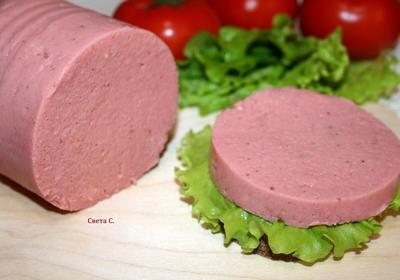 Постная колбаса - пошаговый рецепт приготовления с фото