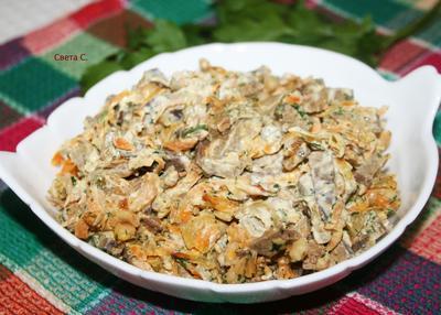 Салат из фасоли с печенью и овощами - пошаговый рецепт приготовления с фото