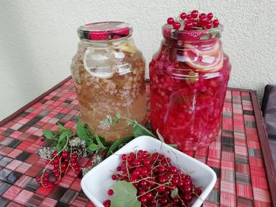 Компот из смородины с лимоном и мятой на зиму. Пошаговый рецепт с фото