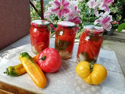 Маринованные помидоры кусочками. Пошаговый рецепт заготовки с фото