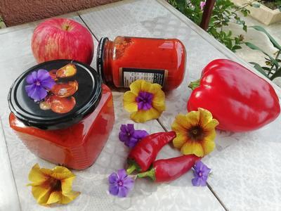 Соус из перца и яблок; Мармеладный; на зиму. Пошаговый рецепт приготовления с фото