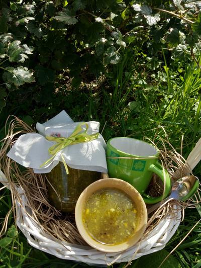 Вкуснейшее варенье без тепловой обработки из зелёного крыжовника - пошаговый рецепт приготовления с фото