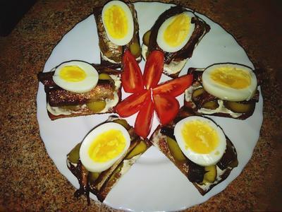 Гренки со шпротами - пошаговый рецепт приготовления с фото