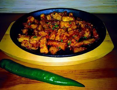 Хрустящие баклажаны в кисло-сладком соусе - пошаговый рецепт приготовления с фото
