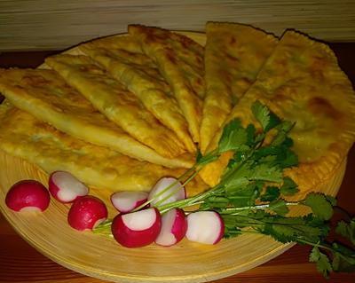 Кутабы с зеленью и сыром - пошаговый рецепт приготовления с фото