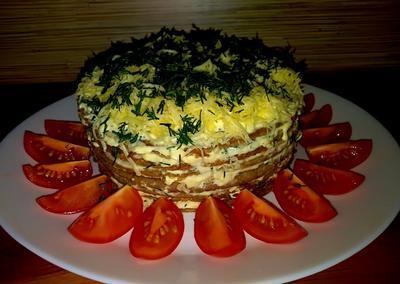 Печеночный торт. Рецепт с пошаговыми фотографиями оригинальная порционная подача