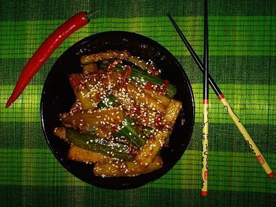 Жареные огурцы по-японски. Пошаговый рецепт с фото
